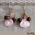 Обеци със седеф и речни перли