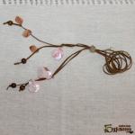 Колие с розов седеф и перли